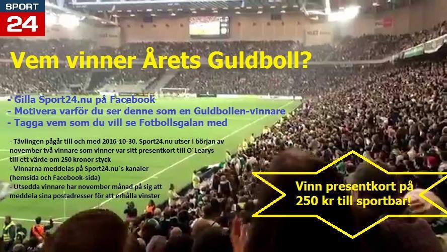 Fotbollstävling: Vem vinner Årets Guldboll?