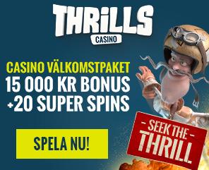 thrills casino med bonus